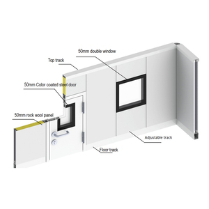 Aluminum joint profiles partition wall system